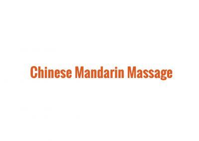 Chinese Mandarin Massage